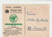 Germany 1948 Exhibitors of Leipzig Trade fair Advert  stamps card ref R 16330