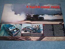 """1974 Chevy Nova Vintage Drag Car Article """"A Dream Come True"""""""