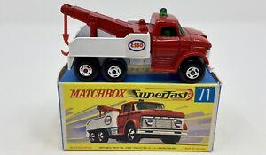 Matchbox Superfast No. 71 Ford 'Esso' Wreck Truck in Original Box