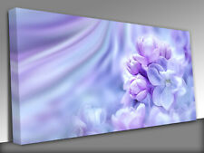 Beautiful purple lilac flowers blossom branch Panoramic Canvas Wall Art Picture