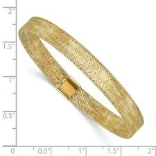 14k Gold Mesh Stretch Bracelet. Lifetime Warranty. Easy to put on and take off.