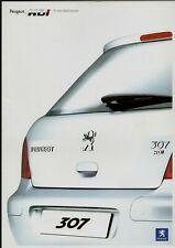 Peugeot 206 GTi HDi & 307 XSi HDi 2004 UK Market Foldout Sales Brochure