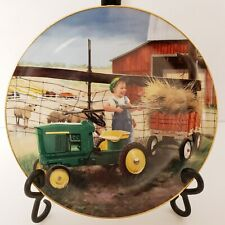 Danbury Mint Pitching In Plate Donald Zolan Collection Little Farmhands Euc