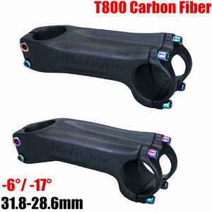 BALUGOE Cycling Carbon XC/AM MTB Road Bike Stem 6°/17° Tube 31.8mm Bicycle Stem