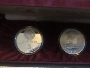 1961-1991 Russia First Man in Space 30th Anniv. Coin Silver Proof & Medal Set