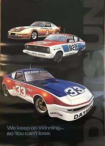 """Datsun""""We Keep On Winning..So You Can't Lose Factory Original Car Poster Own It!"""