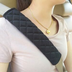2 x Car Seat Belt Cover Pads Car Safety Cushion Covers Strap Pad Universal