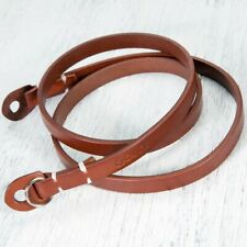 Canpis Brown Genuine Leather Camera Neck Shoulder Strap For SLR Leica Fuji Lumix