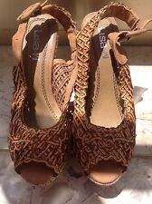 Sandali zeppa zeppe traforati traforate scarpe 37 sandalo zara pepe h&m style jo