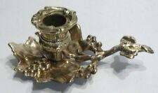 Beau Petit BOUGEOIR DE TABLE en Bronze à Décor de Vigne Raisin