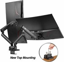 AVLT-Power Aluminum Dual Monitor Mount Mechanical Spring Desk Arm Stand Riser