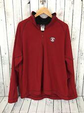 Disney Mickey Mouse Fleece 1/4 Zip Pullover Jacket Red Size Large Disneyland W1