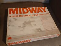 GD+1964 MIDWAY NAVAL-AIR BATTLE WAR BOARD GAME AVALON HILL-STRATEGY WAR COMPLETE