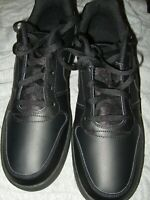 Men's 11.5 Solid Black Nike Ebernon Court Vision Low Sneakers New AQ1775-003