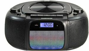 MD6972 Portable Top Loading CD Boombox with Digital AM FM Stereo Radio Color