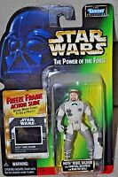 STAR WARS POWER OF THE FORCE HOTH REBEL SOLDIER BACKPACK FREEZE FRAME MOSC