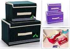 2-Pc Set! Large Foldable Closet Storage Organiser Box Container Cosmetic Bra