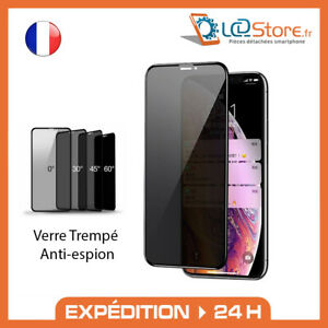 Verre Trempé Anti-espion iPhone X XR XS MAX 11 PRO MAX