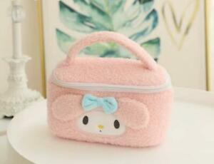 melody pink fuzzy Plush Makeup Box Cosmetic case Beauty Case handbag model