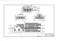 Full Set of two story 3 bedroom house plans 1,960 sq ft