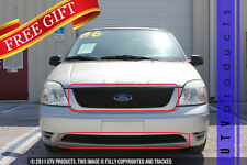 GTG 2004 - 2007 Ford Freestar 2PC Gloss Black Overlay Combo Billet Grille Kit