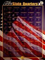 1999 thru 2008 P+D Statehood Quarter Collection Wall Mount Holder ~ NO COINS