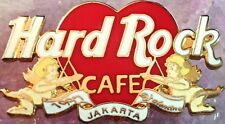 Hard Rock Cafe JAKARTA 1997 Valentine's Day PIN Heart with Cupids - HRC #3779