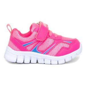 Ascot Yucca Girls Pink Easy Fasten Trainer Size UK 4,5,6,7,8,9