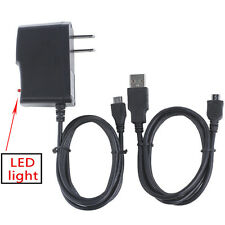 AC/DC Battery Charger Wall Power Adapter + USB Cord for Samsung ST66 ST68 CAMERA
