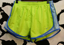 womens Nike Chartreuse & Block Piping Print running Shorts Size Xl