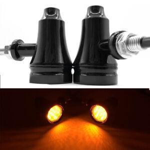 1 Pair 12V LED Aluminum Motorcycle Highlight Bike Horn Turning Lap Fog Spotlight