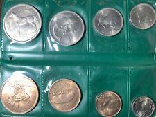 1966 Irish pre Decimal 8 Coin set In wallet uncirculated Farthing to half crown