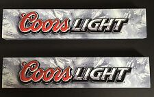 Coors Light Beer Signs Strudy Vinyl Plastic Man Cave NOS selling individually