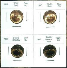 Canada 1967 Small Cents Gem BU, Double Date, Double Face & Double Legend!!