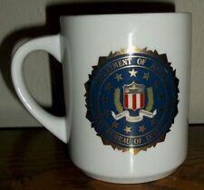 FBI Department of Justice Federal Bureau of Investigation White Coffee Cup/Mug
