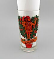 """VTG Anchor Hocking 12 Days of Christmas """"10th Day """" REPLACEMENT Drinking Glass"""