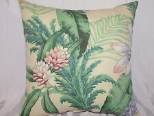 "2 DECORATIVE THROW PILLOW  CUSHION COVERS 17"" FLORAL INDOOR OUTDOOR"
