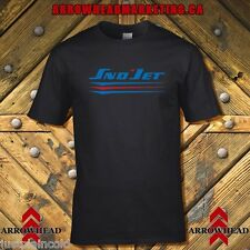 Sno-Jet vintage snowmobile style t-shirt with red and blue underline