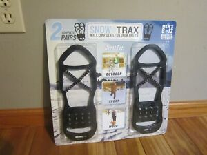 Snow Trax Set Of Two Anti Slip Ice Snow Grips Cleats Mens Size 8-12 Slip On #T12