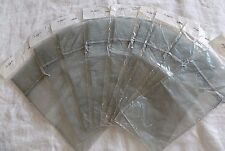 Organza Gift Bag Dove Gray Lot of 9 Wine Bottle Size 6x15 Party Favor Packing