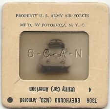WWII US 35mm Recognition Slide Negative- Panzer- Tank- M20 Greyhound Ut Car- #4