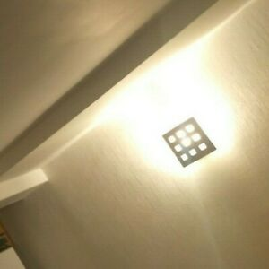 9 'Ring; wall lights - 3 similar designs with glass/ steel shades