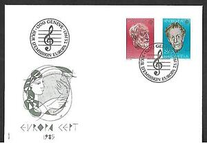 SWITZERLAND 1985 FIRST DAY COVER # 755/56, EUROPA !!