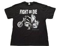 The Walking Dead AMC Fight Or Die Daryl Dixon T-Shirt SS Black Men's Size XL New