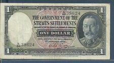 Straits Settlements Malaysia Singapore 1 Dollar, 1935, P 16b, VF
