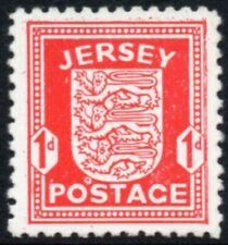 More details for 1941 jersey sg 2d scarlet on chalk surfaced paper wartime arms definitive umm