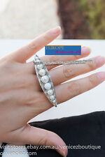 BNWT RRP$99.95 MIMCO AMALGAMANIA Ring Silver Pearls w/Pouch