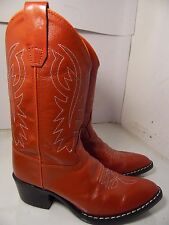 Old West Red Leather Boots Girls Size 030 Made  in India