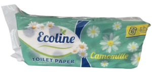 3 Ply ECOLINE Toilet Paper Bathroom Tissue Loo Rolls Fragranced Scented Free P&P