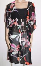 RESORT Brand Black Floral Chiffon Butterfly Sleeves Cardigan Top Size S/M #SE01